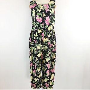 [VTG] Sleeveless Floral Jumpsuit